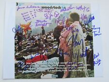 Woodstock 1969 Signed 11 X 14 19 Bands Johnny Winter Country Joe Kantner Gravy !