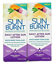 Sun Burnt Advanced Sun Recovery Daily After-Sun Lotion 6 oz. Lot of 2