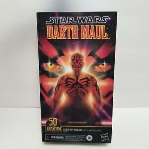 "Star Wars Black Series 6"" Darth Maul Sith Apprentice Figure Lucasfilm 50th New"