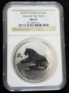 2010 AUSTRALIA Year of the TIGER NGC MS 69