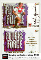 2001 Select NRL Impact Future Force Signature Card FF8 Mark gasnier-Dragons