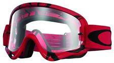 Masque Motocross Oakley O Frame Intimidator Rouge Noir - Clear