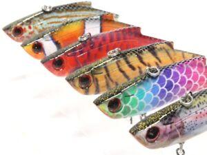 Lipless Fishing Lures Crankbait Bass Sinking Tight Wobble Lifelike HL676KB