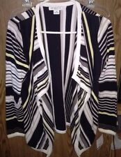 Liz Claiborne Petite Brown Striped Sweater Size PM. New With Tags.