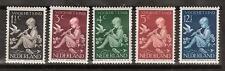 NVPH 313-317 Netherlands Nederland 313 314 315 316 317 MLH 1938 kinderzegels
