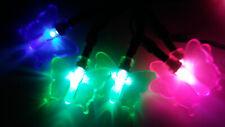 Blue Pink Green Butterfly Fairy Garden 10 LED Lights Battery Power 2-AA New