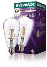 Sylvania ST64 470LM 827 filament lampe led E27 4W