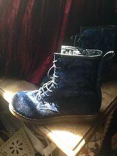 Velvet Boots Doc Marten Like Festival Hippy Goth