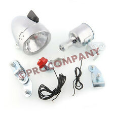 12V 6W Bicycle Motorized Bike Friction generator Dynamo Headlight Tail Light Kit