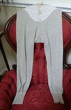 """1920`s Grey Long John`s 31-33"""" waist. Wool cotton blend.Adjustable"""