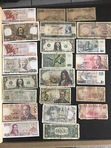 lot de billets du monde