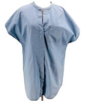 Vince Women's Blue Cotton Short Sleeve Popover Tunic Top Size Small
