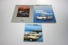 Ford Sierra XR4x4 Werkstatthandbuch Ergänzung+Einführungsheft+Anleitung