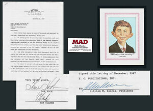 MAD Self-Improvement Yearbook Swedish Publ Contract Signed Gaines, Koch, Clarke