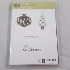 NEW Stampin Up Contempo Christmas Set Unmounted Holiday Ornament Tree Modern