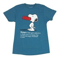 Peanuts Snoopy Hangry Defined Hungry Angry Funny Comic Graphic Tee Men's T Shirt