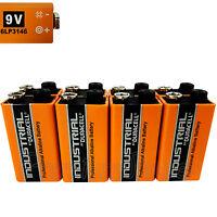 8 x Duracell Industrial 9V 6LP3146 batteries Block PP3 LR22 MN1604 6LR61