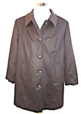 Lands' End Women's Black Plus Size Wool A-line Coat Size 18W New With Tags