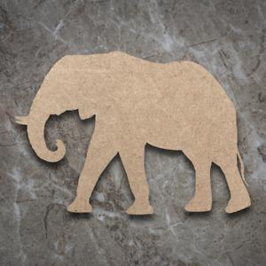 Large MDF Elephant Craft Wooden Shape Blank Wood 20 30 40cm Unpainted