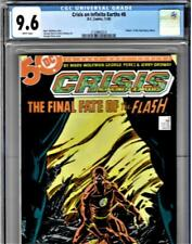CRISIS ON INFINITE EARTHS #8  - CGC Graded 9.6 - Death of The Flash