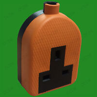 13A Orange High Impact Rubber UK 3 Pin Mains Extension Lead Socket Plug BS1363A
