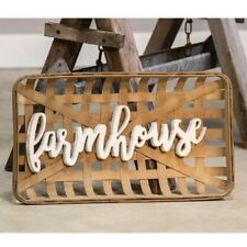 Tobacco Basket Farmhouse Wall Decor