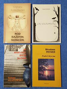Polnische Lyrik, Konvolut, 4 Bände: Agatowski, Schreyner, Jurkowski, Prywer