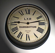 Lancashire & Yorkshire Railway Victorian Style Waiting Room Clock Ramsbottom.