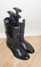 NEW Red or Dead mens black leather pull on chelsea boots size 9 EU 43