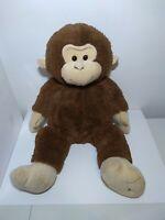"Hugfun International Monkey Jumbo Plush Stuffed Animal Brown Giant 32"" Large"