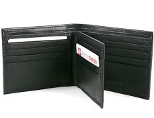 Alpine Swiss Men's Leather Wallet Multi Card High Capacity Compact Bifold New