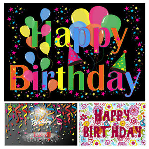 Happy Birthday Party Photography Backdrop Kids Balloon Photo Photography Banner