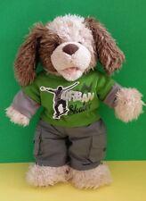 "Build a Bear Workshop Skater Fluffy Puppy Dog 16"" Plush Kids Stuffed Toy Babw"