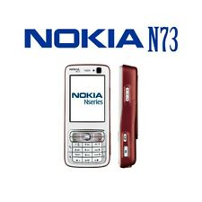 Phone Mobile Phone Nokia N73 Red 0.1oz Umts Camera Bluetooth GPS