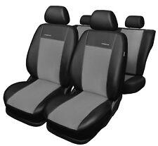 Fiat 500 L Kunstleder Universal Sitzbezug Sitzbezüge grau 2