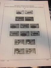 Schaubek DDR Zusammendrucke 1980-1990 komplett (ohne Klemmtaschen) wie NEU (851)