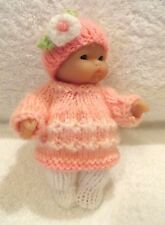 "Hand Knitted Clothes for 5"" Berenguer Doll (#76)"