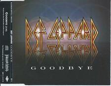 DEF LEPPARD - Goodbye CD SINGLE 1Tr PROMO 1999 + Swedish Info Sticker at case
