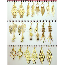Mode lots 10 paires crochets or Mixed Styles Boucle d'oreille Dangle femme fille