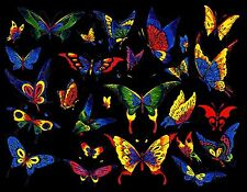 COLORFUL BUTTERFLIES  MOUSE PAD  IMAGE FABRIC TOP RUBBER BACKED