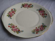 Queen Anne Bone China Floral Cake Plate