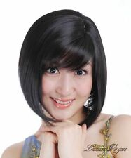 SHORT BLACK HAND MADE BOB WIGS/HAIR PERRUQUE 74#2