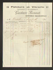 "AIGREFEUILLE (17) PEINTURE TAPISSERIE & VITRERIE ""Gustave BONNET"" en 1915"