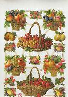 Objet de collection découpis chromos neufs  planche sur les fruits