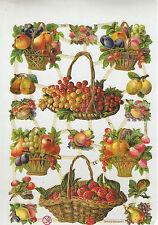 Objet de collection découpis chromos planche sur les fruits