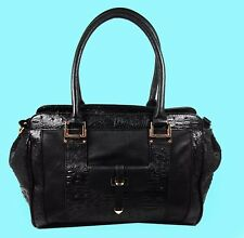 BIG BUDDHA Black Leather Satchel Bag Msrp $128.00 *PAY ONLY 35% OF RETAIL PRICE*