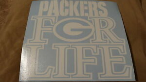Green Bay Packers For Life car decal