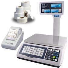 Cas Jr-S2000Pole60 Ntep Scale 60 x 0.01 lb w/Column Printer & Labels
