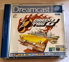 SEGA Dreamcast Crazy Taxi 2-Reino Unido PAL Retro Gaming en muy buena condición