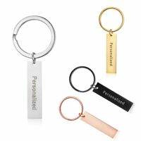 Stainless Steel Personalized Custom Engraved Letter Name Keychain Key Chain Gift